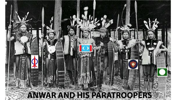 anwar and his troops