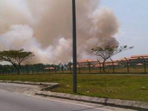 Fire in Matang areas